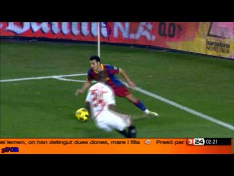 FC.Barcelona 5 0 Sevilla Messi Villa Alves Liga BBVA 30 10 2010 J9 Highlights HQ CAT
