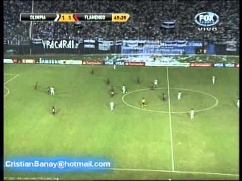 Olimpia 3 Flamengo 2 Copa Libertadores 2012 Los goles (28/3/2012