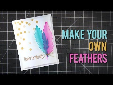 Tutorial Vellum Feathers - Plumas de Papel Vegetal
