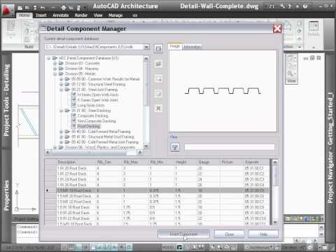 AutoCAD Architecture 2012 - Demo - Detail Creation