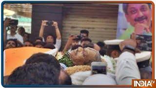 Goa: Mortal remains of Manohar Parrikar being taken to BJP head office in Panjim - INDIATV