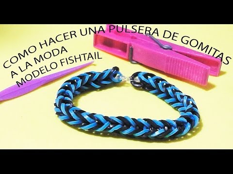 COMO SE HACE UNA PULSERA DE GOMITAS A LA MODA FISHTAIL. VIDEO TUTORIAL PARA NIÑOS