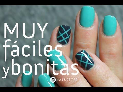 Linda decoración de uñas para principiantes | MUY FÁCIL
