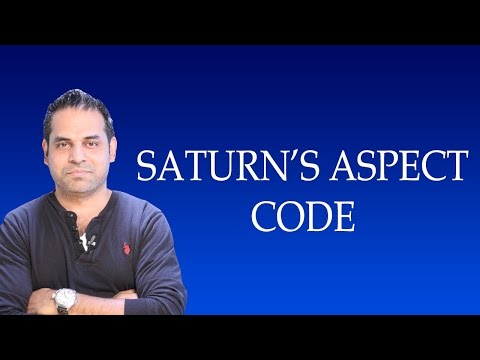 Secret Code of Saturn aspects in Vedic Astrology