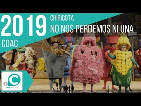 La agrupación No nos perdemos ni una llega al COAC 2019 en la modalidad de Chirigotas. Primera actuación de la agrupación para esta modalidad.