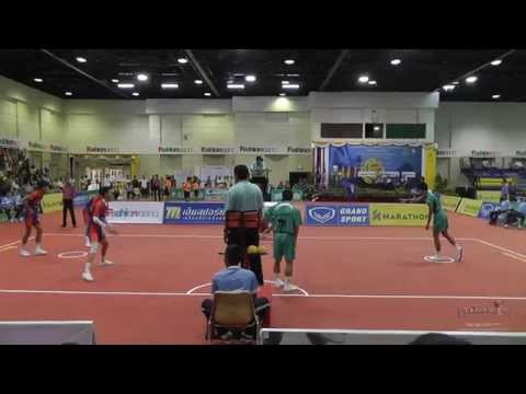 Sepak Takraw Prince Cup 2014 semi final - Army vs. Port Authority of Thailand (1st regu)