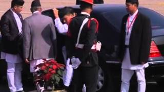 25,Nov 2014 - Presidents of Afghanistan, Sri Lanka and Maldives arrive in Kathmandu for SAARC summit - ANIINDIAFILE