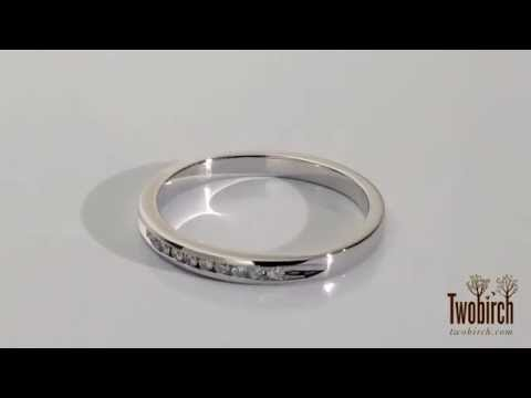 Gorgeous wedding band with pave stones, perfect for any occasion. By TwoBirch Sku # TB-WEDD-0098