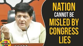 Piyush Goyal Says That The Nation cannot be Misled by Congress Lies Anymore | Mango News - MANGONEWS