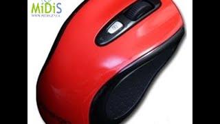 Распаковка: Мышь Prestigio PJ-MSL2BR Bluetooth Red-Black USB