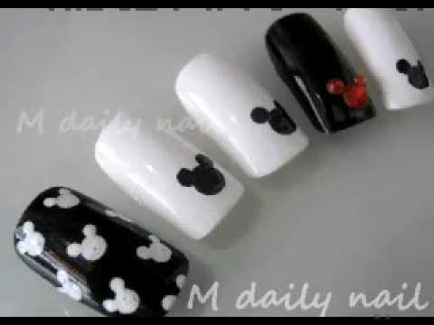 สอนเพ้นท์เล็บ ลายมิกกี้ Minnie Mouse Nail Art