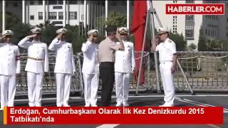 فيديو| أردوغان يفتتح مناورات
