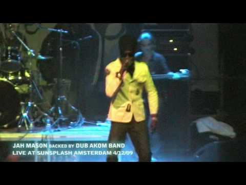 Jah Mason backed by Dub Akom Live Amsterdam - Sunsplash