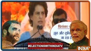UP में Priyanka Gandhi ने PM पर किए तीखे वार कहा, फिल्म स्टार से बात करने का समय है किसानों से नहीं - INDIATV
