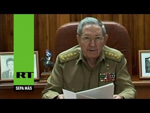 """Raúl Castro: """"Hemos acordado el restablecimiento de las relaciones diplomáticas con EE.UU."""""""