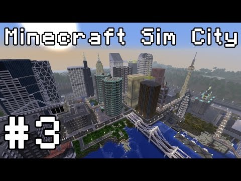 Minecraft Sim City (1.8 snapshot) Simburbia! #3