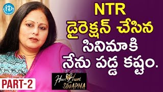Actress Jayasudha Exclusive Interview Part #2 || Heart To Heart With Swapna - IDREAMMOVIES