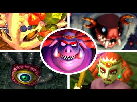The Legend of Zelda: A Link Between Worlds - All Boss Battles