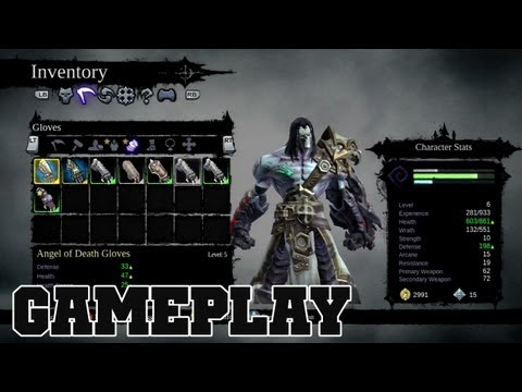 Darksiders 2 ANGEL OF DEATH Exclusive Weapons & Armor Gameplay