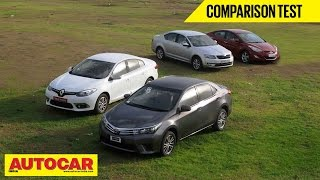 2014 Toyota Corolla vs Skoda Octavia vs Hyundai Elantra vs Renault Fluence | Comparison Test - Skoda Videos