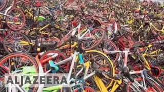 Chinese seek to put brakes on bike-sharing - ALJAZEERAENGLISH
