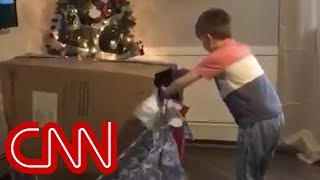 Boy's emotional Christmas surprise goes viral - CNN
