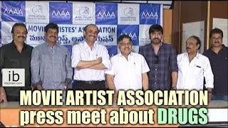 Movie artist association press meet about Drugs - idlebrain.com - IDLEBRAINLIVE