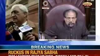 NewsX: Ruckus in Rajya Sabha over hasty passage of Constitution Amendment Bill - NEWSXLIVE
