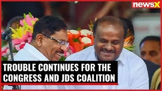 Trouble continues for the Congress and JDS coalition in Karnataka - NEWSXLIVE