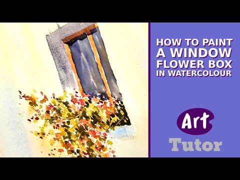 Tuscany Window - Watercolour Demo - Joanne Boon Thomas