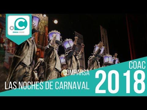 Sesión de Preliminares, la agrupación Las noches de carnaval actúa hoy en la modalidad de Comparsas.