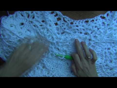 Crochet a  Free Form Top -  Border Pt 7 of 10
