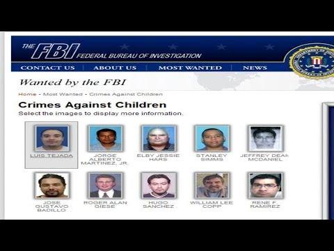 Depredadores sexuales buscados por el FBI