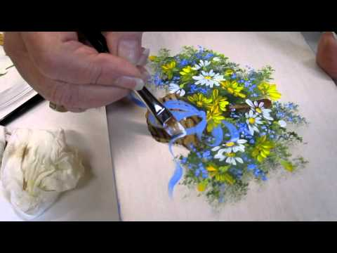 Floral techniques: free lesson of Decorative Painting by Ros Stallcup - Demo 2/2