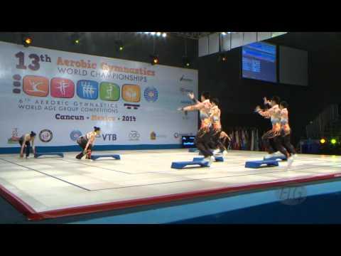 CHINA Step  -- 2014 Aerobic Worlds, Cancun (MEX), Qualifications -- We are Gymnastics !