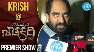 Krish At Gautamiputra Satakarni Premiere Show || #Balakrisha || #Krish - IDREAMMOVIES