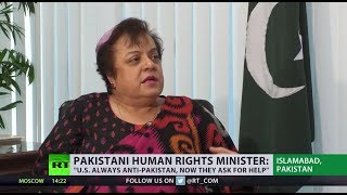 'US policy and military approach has absolutely failed' – Pakistan's human rights minister - RUSSIATODAY