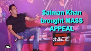 """Salman Khan brought mass appeal to """"Race 3"""" ! - IANSINDIA"""