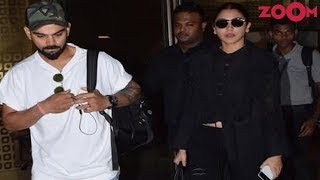 Anushka Sharma And Virat Kohli's Stunning Airport Look | Style Today - ZOOMDEKHO