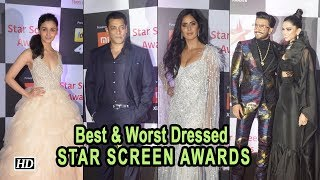 Best & Worst Dressed at the STAR SCREEN AWARDS - IANSINDIA
