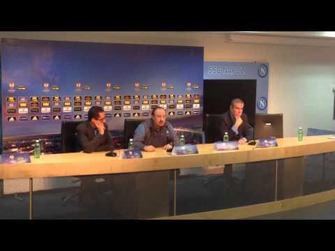Conferenza stampa Benitez - Vigilia Napoli Sparta Praga
