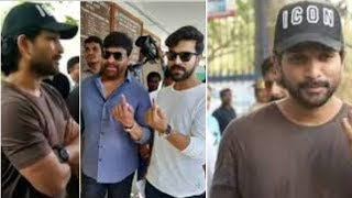 Stylish Star Allu Arjun Casts His Vote | Telangana Elections 2019 - RAJSHRITELUGU