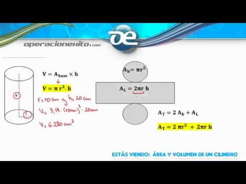 Área y volumen de un cilindro - Operacionexito.com