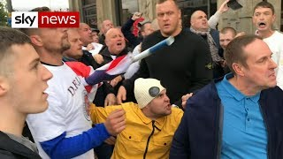 Violence erupts at anti-Muslim rally - SKYNEWS