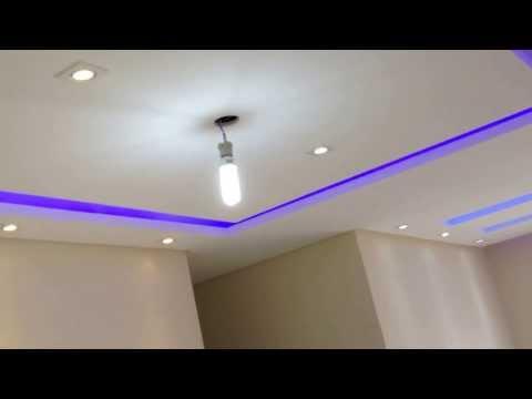 Implantação de iluminação forro de gesso