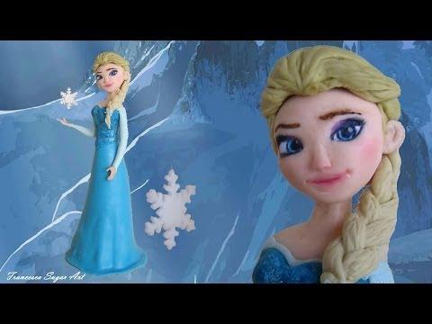 Кукла Эльза - холодное сердце, из мастики, для торта