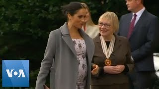 Duchess of Sussex Visits Royal Variety Charity's Residential Nursing Home - VOAVIDEO