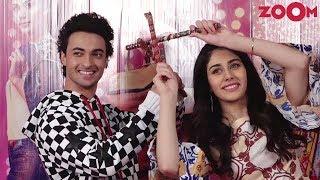Aayush Sharma, Warina Hussain & Director Abhiraj Minawal Promote Their Film 'Loveratri' - ZOOMDEKHO