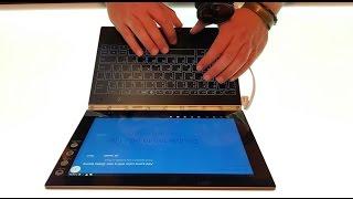 Lenovo YogaBook – первый взгляд на ноутбук без кнопок