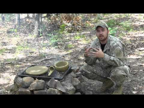 Primitive Survival Tools Series- Clay Skillet, Bowl, and Ladle